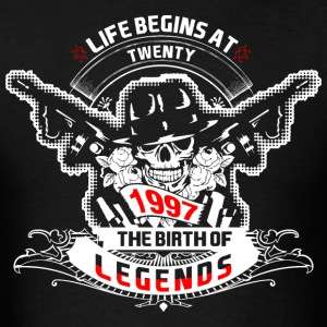 Life Begins at Twenty 1997 The Birth of Legends - Men's T-Shirt