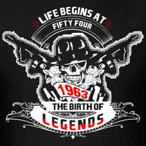 Life Begins at Fifty Four 1963 The Birth of Legend - Men's T-Shirt