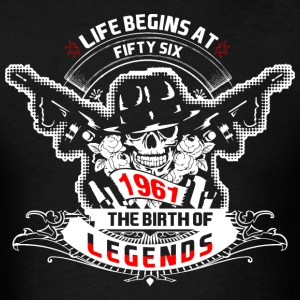Life Begins at Fifty Six 1961 The Birth of Legends - Men's T-Shirt
