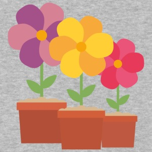 Three colorful Flowers Uo728 T-Shirts - Men's V-Neck T-Shirt by Canvas