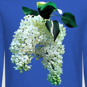 White Lilacs Long Sleeve Shirts - Crewneck Sweatshirt