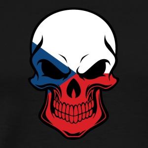 Czech Flag Skull - Men's Premium T-Shirt