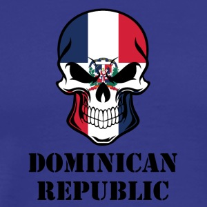Dominican Flag Skull Dominican Republic - Men's Premium T-Shirt