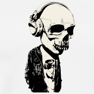 Big Skull With Headphones - Men's Premium T-Shirt
