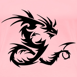 Tribal Dragon - Women's Premium T-Shirt