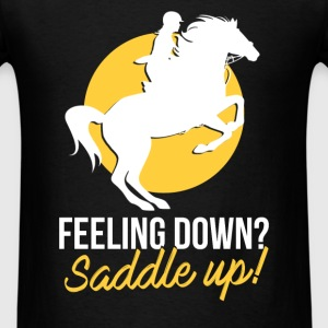 Farrier - Feeling down? Saddle up! - Men's T-Shirt