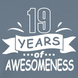 19 years of awesomeness - Men's Premium T-Shirt