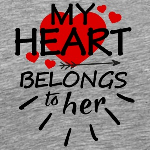 My heart belongs to her - Men's Premium T-Shirt