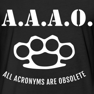 A.A.A.O. T-Shirts - Fitted Cotton/Poly T-Shirt by Next Level