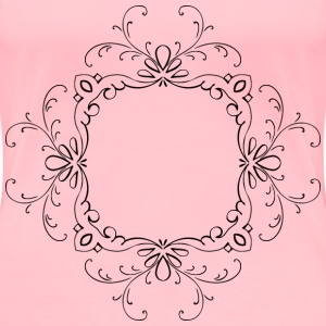 Vintage Calligraphic Flourish Frame Extrapolated - Women's Premium T-Shirt