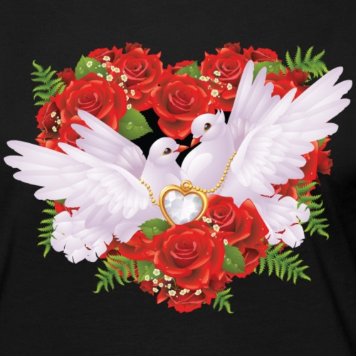 Roses and Pigeons Vector Illustration.png