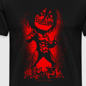 attack on chibi grunge - Men's Premium T-Shirt