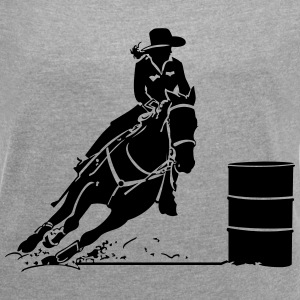 barrel racer - Women´s Roll Cuff T-Shirt