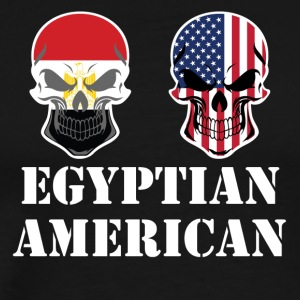 Egyptian American Flag Skulls - Men's Premium T-Shirt