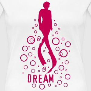 Freediving dream dive - Women's Premium T-Shirt