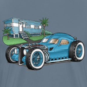 Blue Hot Rod Car-Toon - Men's Premium T-Shirt
