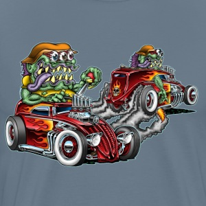 Hot Rod Freaks Car-Toon - Men's Premium T-Shirt