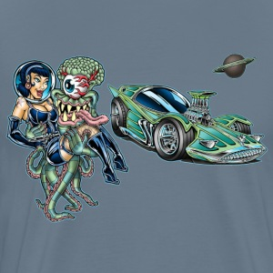 Alien Abductor Car-Toon - Men's Premium T-Shirt