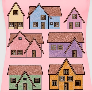 Scribble Houses - Women's Premium T-Shirt
