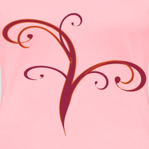 Red Flourish - Women's Premium T-Shirt