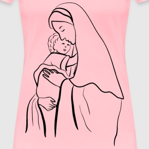 Virgin Mary And Baby Jesus - Women's Premium T-Shirt