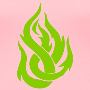 Green Flames - Women's Premium T-Shirt