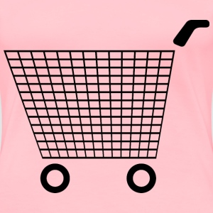 Shopping Cart Icon 3 - Women's Premium T-Shirt