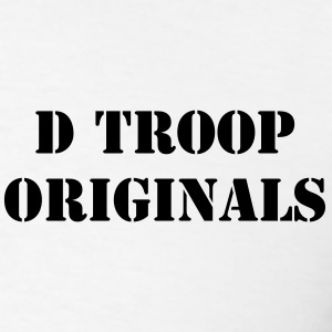 D Troop Chest ORIGINALS with Wings on Back BLACK L - Men's T-Shirt