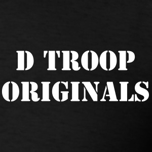 D Troop Chest ORIGINALS with Wings on Back WHITE L - Men's T-Shirt