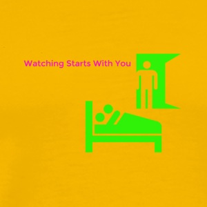 watching starts with you - Men's Premium T-Shirt