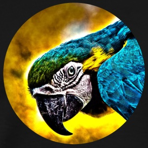 Yellow breast parrot in HDR Style - Men's Premium T-Shirt