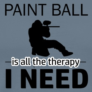 Paint Ball is my therapy - Men's Premium T-Shirt
