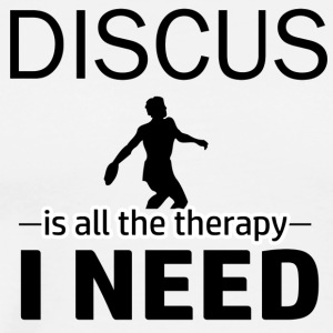 Discus is my therapy - Men's Premium T-Shirt
