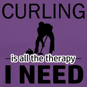 Curling is my therapy - Men's Premium T-Shirt