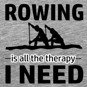 Rowing is my therapy - Men's Premium T-Shirt