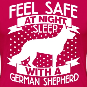 Feel safe -- sleep with a German shepherd T-Shirts - Women's Premium T-Shirt