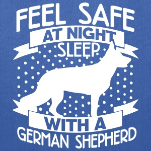 Feel safe -- sleep with a German shepherd Bags & backpacks - Tote Bag