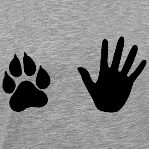 Hand and Paw, Dog and Human T-Shirts - Men's Premium T-Shirt