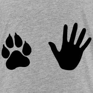 Hand and Paw, Dog and Human Baby & Toddler Shirts - Toddler Premium T-Shirt
