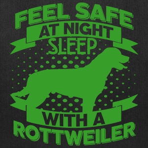 Feel safe -- sleep with a Rottweiler Bags & backpacks - Tote Bag