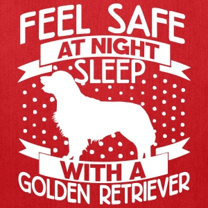 Feel safe -- sleep with a Golden Retriever Bags & backpacks - Tote Bag