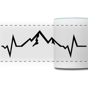 Mountain - Heartbeat Mugs & Drinkware - Panoramic Mug