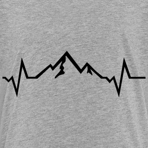 Mountain - Heartbeat Baby & Toddler Shirts - Toddler Premium T-Shirt