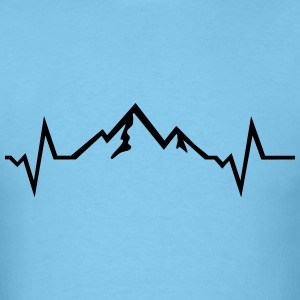 Mountain - Heartbeat T-Shirts - Men's T-Shirt