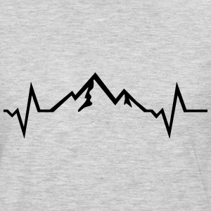 Mountain - Heartbeat Long Sleeve Shirts - Men's Premium Long Sleeve T-Shirt