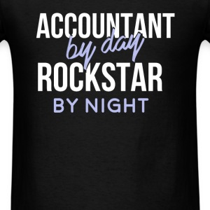 Accountant - Accountant by day, Rockstar by night. - Men's T-Shirt