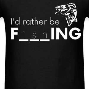Bass Boat - I'd rather be f_i_s_h_ing - Men's T-Shirt