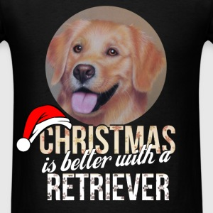 Retriever - Christmas is better with a Retriever - Men's T-Shirt