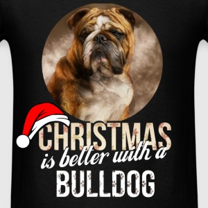 Bulldog - Christmas is better with a Bulldog - Men's T-Shirt