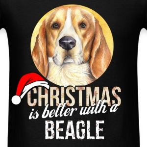 Beagle - Christmas is better with a Beagle - Men's T-Shirt